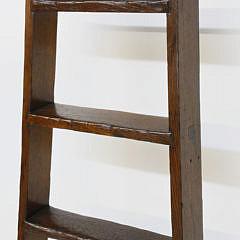 19th Century English Elm Loft Ladder