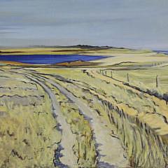 """Illya Kagan Oil on Canvas, """"White Goose Cove"""""""