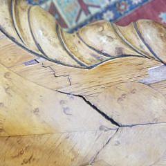 William IV Carved Bird's Eye Maple Center Table, circa 1835