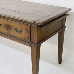 English Elm Three Drawer Huntboard, 19th Century