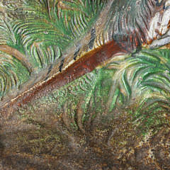 Antique Fred Everette Hubley Cast Iron Pheasant Doorstop