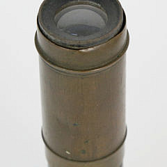 Antique Brass Sailor's 3-Draw Spyglass with Sun Shade