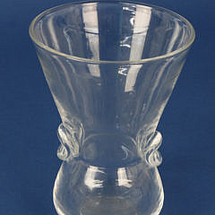 Signed Steuben Clear Crystal Thumb Print Vase