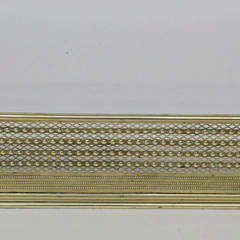 2293-955 English Pierced Brass Fireplace Fender A_MG_4178