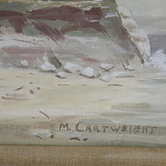"Martha Cartwright Oil on Artist Board, ""Sankaty Light, Nantucket"""