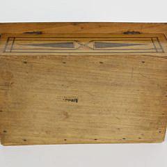 19th c. Sailor Made Mahogany Inlaid Sewing Box
