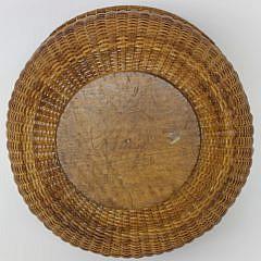 Fine William Appleton Round Two Handle Nantucket Harvest Basket