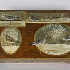 Shorebird Paint Decorated Pine Dome Top Box