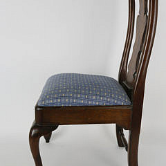 Child's Queen Anne Style Burlwood Chair