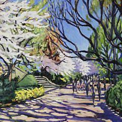 """Illya Kagan Oil on Canvas, """"90th Street Gate, Central Park"""""""