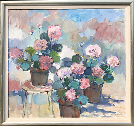 "3-4896 Sybil Goldsmith ""Pink Geraniums"" A IMG_4306"