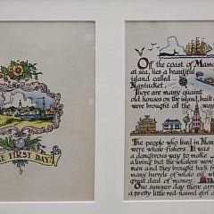 Set of Five Framed Tony Sarg Nantucket Storybook Page Sets