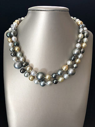 38866-101 White Gold and Grey Tahitian South Sea Pearl Cocktail Necklace A IMG_4160