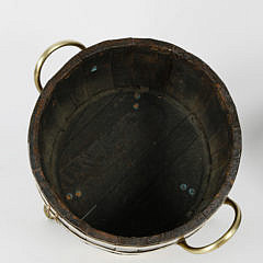 19th Century Brass Bound Peat Bucket