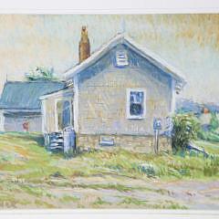 """Pat Gardner Pastel """"Hummock Pond House"""""""