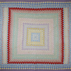 41151 1930's Trip Around the World Patchwork Quilt A_MG_3537