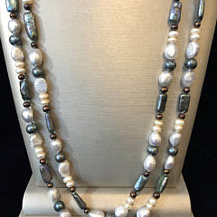 Multi-color Fresh Water Pearl Necklace