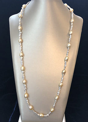 41263-101 baroque pearl and keshi pearl necklace A IMG_4087