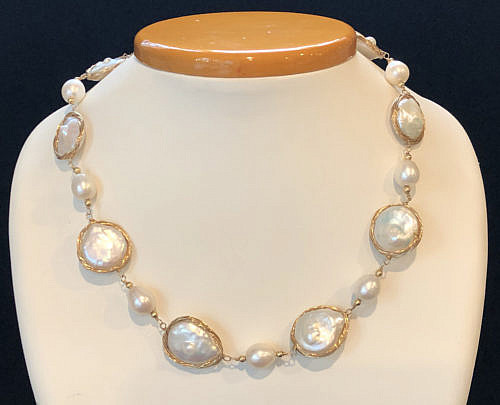 41314-101 baroque pearl wrapped wire necklace B IMG_4040