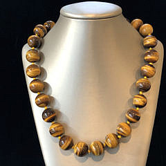 16mm Tiger's Eye Bead Necklace