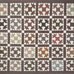 41378 Brown Calico Oak Leaf Patchwork Quilt A_20200904_112444