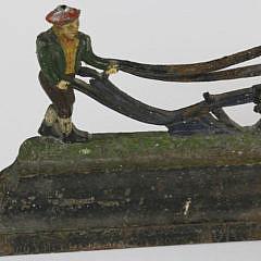Antique Cast Iron Figural Doorstop of a Farmer