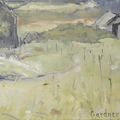 "Pat Gardner Oil on Canvas ""Nantucket Grey Shingled Shack"""