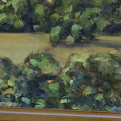 "Illya Kagan Oil on Canvas, ""Hither Creek"""