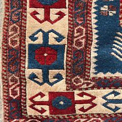 Vintage Turkish Kazak Carpet