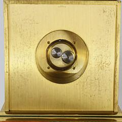 1979 Brass Accutron Presentation Desk Clock Bulova Watch Company