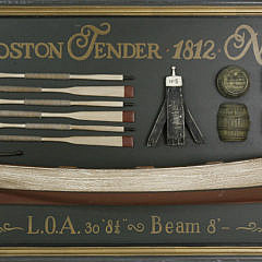 551-1865 Contemporary Boston Tender No. 5 1812 Lighthouse Boat Half Hull Plaque A_MG_3843