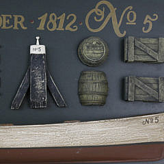 Contemporary Boston Tender No. 5 1812 Lighthouse Boat Half Hull Plaque
