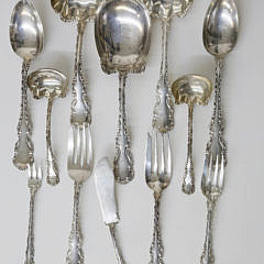 """78 Piece Whiting """"Louis XV"""" Sterling Silver Flatware Set"""