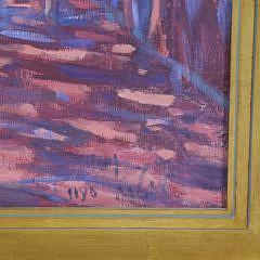 "Illya Kagan Oil on Canvas, ""4th of July on Main Street, Nantucket"""