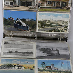Collection of 98 Old U.S. L.S.S. Lifeboat Station Postcards