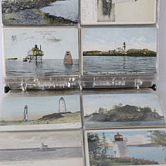 Collection of Old U.S. Lighthouse Postcards