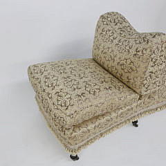 Scalamandré Finely Upholstered Tete-A-Tete