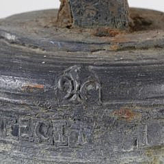 French Bronze Ecclesiastical Bell, circa 1734