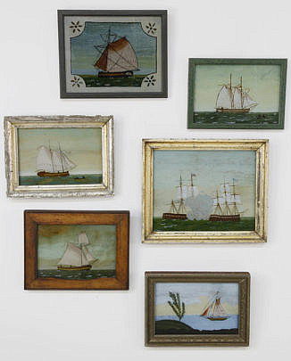 67-4800 Set of Six Reverse Paintings on Glass of Ships A_MG_3809