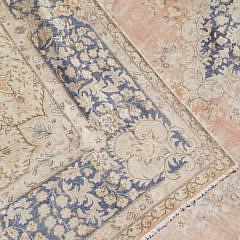 White Washed Wool Kerman Carpet