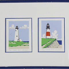 """8-4045 Eric Holch Limited Edition Lithograph, """"Nantucket Light Houses"""" A _MG_4167"""