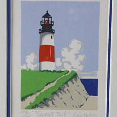 """Eric Holch Limited Edition Lithograph, """"Nantucket Light Houses"""""""