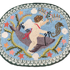 """8-4846 Claire Murray """"Baby Cupid Riding a Dolphin"""" A IMG_4578"""