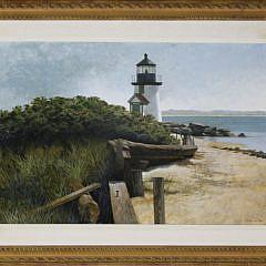 """8-4892 R. Benjamin Jones """"Brant Point Light, Nantucket"""" A_MG_3255"""