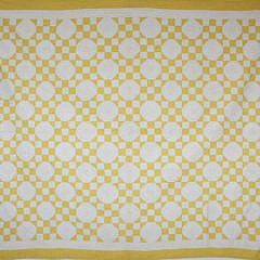 41235 1930's Yellow and White 9-Patch In a Square Patchwork Quilt A_MG_3554