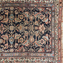 Antique Hand Woven Geometric Carpet Runner