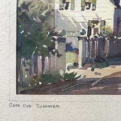 "John Cuthbert Hare Watercolor on Paper ""Cape Cod Summer"""