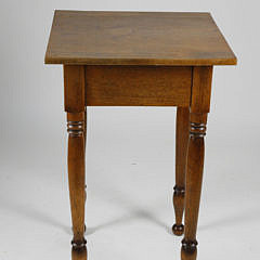 Sheraton New England Maple and Walnut One Drawer Work Stand