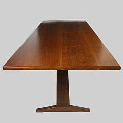 1989 Stephen Swift Straight Edge Trestle Dining Table