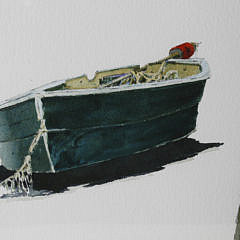 """Roy Bailey Watercolor On Paper """"Lone Dory"""""""